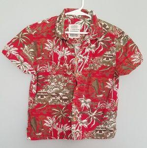 Old Navy red Hawaiian shirt